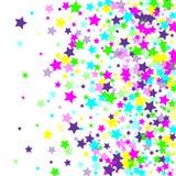Multicolored dalende sterren van confettien stock illustratie