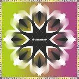 Multicolored de zomerachtergrond stock illustratie