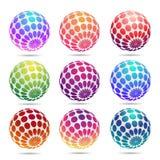 Multicolored decorative balls. Multicolored decorative 3d balls. Abstract vector illustration Royalty Free Stock Image