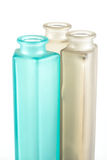 Multicolored Decorative Bottles. On a white background Royalty Free Stock Images