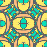 Multicolored decorative seamless pattern with mosaic ornaments Royalty Free Stock Photo