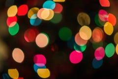 Multicolored defocused bokeh blurry lights Stock Image