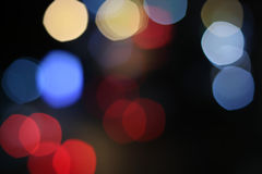 Multicolored defocused bokeh lights background Royalty Free Stock Photography