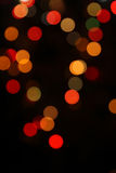 Multicolored defocused bokeh lights background Royalty Free Stock Photos