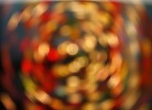 Multicolored defocused bokeh lights motion Royalty Free Stock Photo