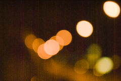 Multicolored defocused bokeh lights at Night for background or texture.  Royalty Free Stock Images