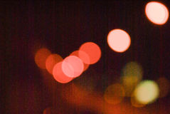 Multicolored defocused bokeh lights at Night for background or texture.  Royalty Free Stock Photography