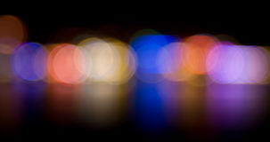 Multicolored defocused lights Royalty Free Stock Photography