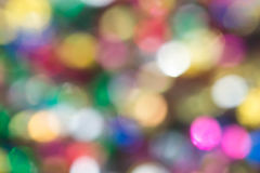 Multicolored defocused lights background. With bokeh Stock Image