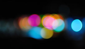 Multicolored defocused lights Royalty Free Stock Image