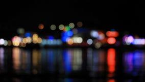 Multicolored defocused lights stock footage