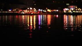 Multicolored defocused lights stock video