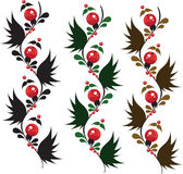 Multicolored delicate ornament berrys from granule royalty free stock photo
