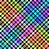 Multicolored diagonal blocks pattern illustration. Stock Photography