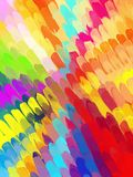 Multicolored diagonal brush strokes background. Vector version. Multicolored diagonal brush strokes background. Watercolor style Royalty Free Stock Photo