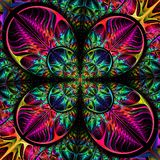 Multicolored diagonal symmetric pattern of the leaves. Collectio Royalty Free Stock Photo