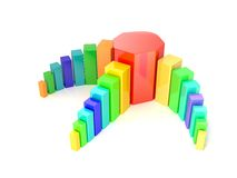 Multicolored diagram Royalty Free Stock Photography