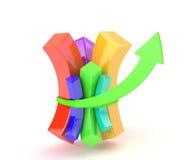Multicolored diagram Stock Image