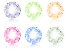 Multicolored diamond set Royalty Free Stock Photography