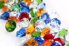 Multicolored Diamonds Royalty Free Stock Photography