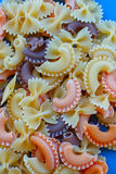 Multicolored different shapes of uncooked pasta Stock Images