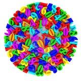 Multicolored digital mix Stock Photo