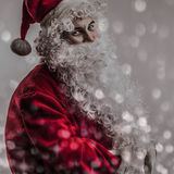 Multicolored digital painted image portrait of Santa Claus. Stock Photography