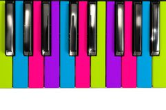 Multicolored Disco Style Piano Keys Stock Image