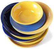 Multicolored dishware Royalty Free Stock Photo
