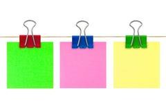 Multicolored document van de post-itnota Stock Foto's