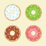 Multicolored donut  illustration Royalty Free Stock Photo