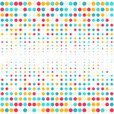 Multicolored dot background for disco party poster stock illustration