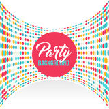Multicolored dot background for disco party poster Royalty Free Stock Photo