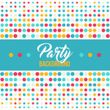 Multicolored dot background for disco party poster Stock Image