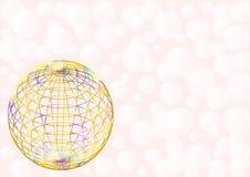 Multicolored draadbal op lichtrose Stock Foto