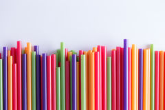 Multicolored Drinking Straws In A Festive Pattern Royalty Free Stock Photo