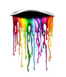Multicolored drips my emotions royalty free illustration