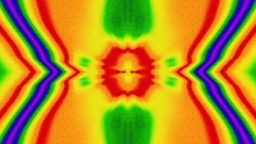 Multicolored dromerige iriserende achtergrond van het caleidoscoopneon cyberpunk stock footage