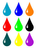 Multicolored drops Stock Photo