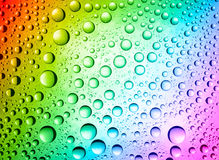 Multicolored drops Stock Image