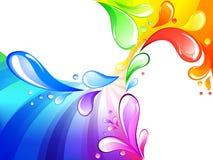 Multicolored drops background Stock Image