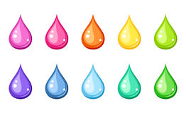 Multicolored drops. Royalty Free Stock Photography