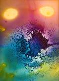 Multicolored dye creation Stock Photos