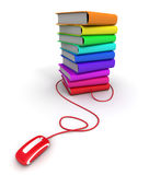 Multicolored e-books Royalty Free Stock Photography