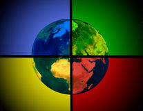 Multicolored Earth Stock Images
