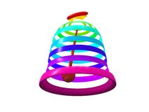 Multicolored Easter bells Stock Photo
