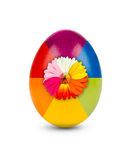 Multicolored easter egg Royalty Free Stock Image