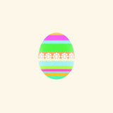 Multicolored Easter egg Royalty Free Stock Photos