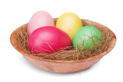 Multicolored Easter eggs Stock Images
