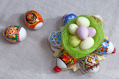 Multicolored Easter Eggs royalty free stock photography